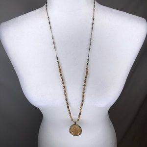 Vintage beaded long strand statement necklace
